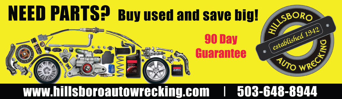 Contact Hillsboro Auto Wrecking for all your Quality Auto Parts